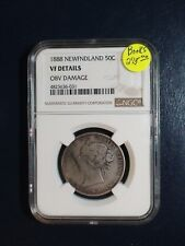 1888 NEWFOUNDLAND Fifty Cents NGC VERY FINE SILVER 50C Coin PRICED TO SELL!