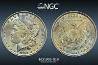 1884-O USA MORGAN SILVER DOLLAR NGC MS64 BU UNC COLOR DEEP TONED GEM (DR)