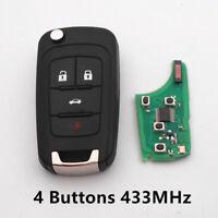 3 Button Remote Key Fob 433 MHZ ID46 for Chevrolet Orlando Cruze Aveo 2011-2019