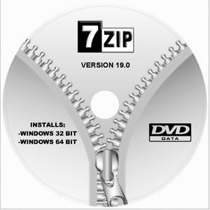 7zip UNZIP/Extract Files Utility Windows Install On DVD