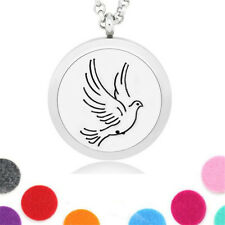 Peace Dove Locket Necklace Perfume Fragrance Essential Oil Aromatherapy Diffuser