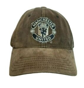 Manchester United Hat Corduroy Cap Football Club FC Brown Mens Vintage Retro