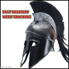 Medieval Greek Corinthian Helmet With Black Plume For Sale Greek Spartan Helmet