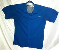 Columbia Omni-Shade Men's Blue Short Sleeve Shirt Size L
