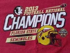 Florida Seminoles 2013 Football National Champs T-Shirt Adult's Lrg - 2 Sided!