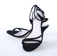 Glint Kelsey Black Dress Strappy Ankle Sandals Shoes 5.5M