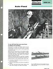 Equipment Brochure Atlas Copco Auto Feed For Drill Mining C1960s E6661