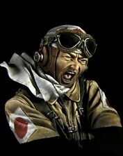 Pegaso Models 1:9 200mm Kamikazi WWII Japanese Pilot Resin Bust Kit #200-048