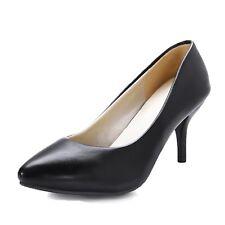 Pretty Mid Heel High HEELS Indie Comfort Shoes UK Sz 0 1 2 3 4 5 6 7 8 9 10 Black UK 10.5 ( Size Tag CN 46)