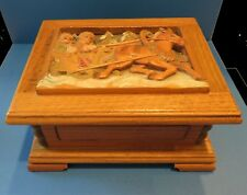 Vintage Anri Reuge Wood Carved Music/ Jewelry Box Plays Lara's Theme Dr Zhivago