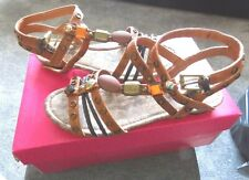 pair of flat roman style sandals from Shelly's of London size 4