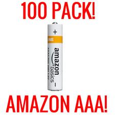 100 AMAZON AAA ALKALINE BATTERIES BASICS 1.5V BULK WHOLESALE FRESH LIQUIDATION