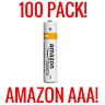 100 AMAZON AAA ALKALINE BATTERIES BASICS 1.5V BULK WHOLESALE FRESH LIQUIDATION