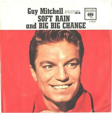 GUY MITCHELL--PICTURE SLEEVE + 45--(SOFT RAIN)--PS--PIC--SLV