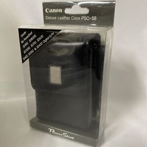 NEW in box OEM Canon PowerShot Deluxe Leather Case PSC-55 with Strap