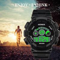 Männer Luxus Sportuhr Silikon Analog Digital Military LED wasserdichte Uhr
