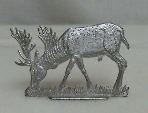 Vintage Lead Flat Toy Figurine Heinrichsen Stag Deer - 81015