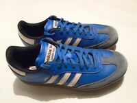 Pre-owned 2012 Adidas Samba Men's Size 9 Royal Blue Leather Golf Shoes 671519
