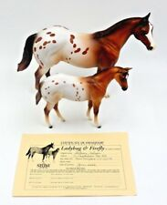 Signed Laurie Jo Jensen Stone Horses Ladybug And Firefly Mare & Foal ~ 1 Of 500