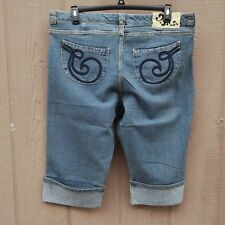 House of Dereon Roll Up Capri Women's Jeans Size 20 Distressed