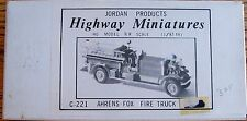 HO~JORDAN PRODUCTS~HIGHWAY MINIATURES-C-221-AHRENS FIRE TRK~NIB W/ INSTRUCTIONS