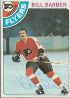 Bill Barber 1978 Topps Autograph #176 Flyers