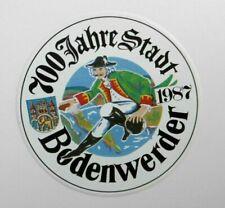 Reise-Aufkleber Bodenwerder 700 Jahre Stadt 1987 Münchhausen Niedersachsen