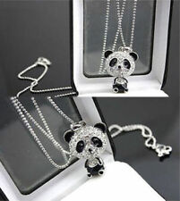 Intriguing Swiveling Head Woman's Novelty Panda Bear Charm Necklace USA Jewelry
