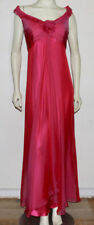 Badgley Mischka pink flowing silk gown 10