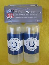 NFL Indianapolis Colts BABY BOTTLES (set of two) NEW great Baby Shower Gift