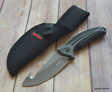9.4 INCH OVERALL KERSHAW LONEROCK FIXED BLADE HUNTING SKINNING KNIFE WITH SHEATH