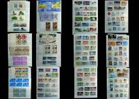 US Stamp Collection Numbered Blocks, Blocks Ext, & US All Different Stamps