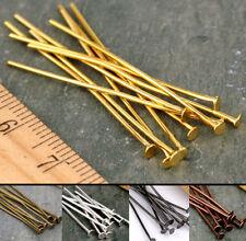 Lot 20mm,30mm,40mm,50mm,Eye Pin Flat Head Pin Ball Pin Jewelry Finding Craft DIY