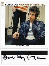 Bob Dylan Signed Vinyl Record Highway 61 Revisited COA