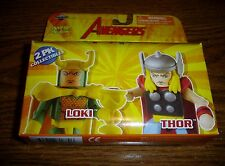 Marvel Minimates 2007 Art Asylum Avengers Loki Thor Action Figure 2 pack NEW MIB