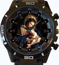Virgin Mary Baby Jesus New Gt Series Sports Unisex Gift Watch