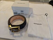 Russell & Bromley Fever Mens Belt Navy Suede Leather Sz 120 - 34/36 Boxed w/ Bag
