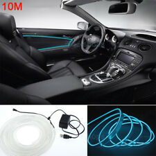 10M 12V EL Wire Ice Blue Nice Cold light Neon Car Atmosphere Decor For Chevrolet
