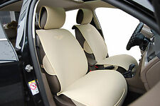 2  Car Seat Covers Cushion Velour Leather Trim Compatible To BMW 6801 Tan