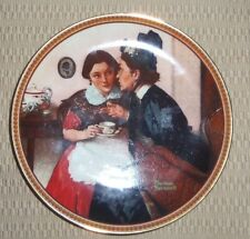 """Gossiping in the Alcove"" Collector Plate by Norman Rockwell Plate # 2687 J"