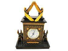 2003 Veronese Egyptian Clock w/ Anubis & Egyptian Queens