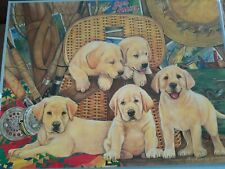 Bits & Pieces 300 LARGE Size Piece Puzzle ~ Fishing Buddies ~ Puppies Puppy