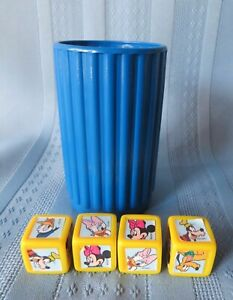 Yahtzee Jr. Mickey Mouse for Kids Dice Cup and 4 Dice Replacement Parts