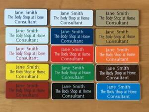 5 Engraved Staff,Personalised name badges ,acrylic shop clubs pub school