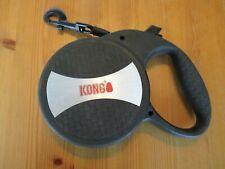 New listing Kong Retractable Dog Leash 20' plus Black Grey Heavy Duty-Xl-Works Good