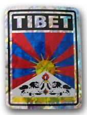 TIBET PRISMATIC FLAG STICKER - NEW - FREE SHIPPING