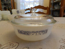"Mar-Crest Currier & Ives Ovenware 8 1/4"" Covered Casserole Dish NOS MC"