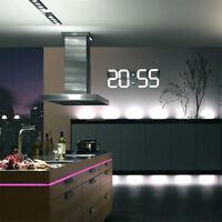 3D OROLOGIO DIGITALE DA PARETE MURO A LED TIMER 24/12 MODERNO DESIGN EU PLUG EM