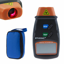 Digital LCD Laser Photo Tachometer Tester Non Contact RPM Tester Tach Meter