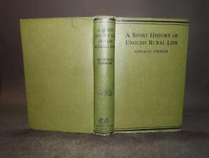 1916 Fordham SHORT HISTORY ENGLISH RURAL LIFE Anglo-Saxon Invasion to Present